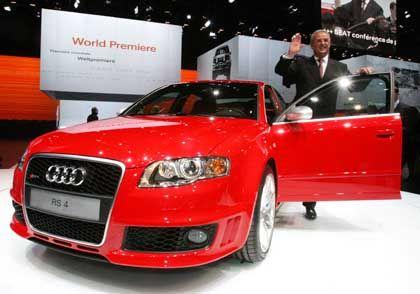 Audi RS4: Audi-Chef Martin Winterkorn mit seinem Neuen