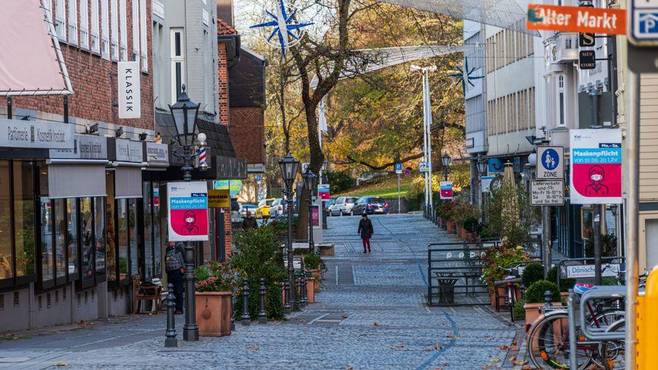 Der Alte Markt in Kiel, ein gastronomischer Hotspot im November-Lockdown: Die angestaute Konsumlust dürfte sich ab dem Frühjahr entladen