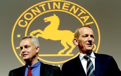 Auf dem Rückzug: Der Conti-Aufsichtsratsvorsitzende Rolf Koerfer könnte ebenso wie der amtierende Vorstandsvorsitzende Karl-Thomas Neumann (r) seinen Posten zur Verfügung stellen