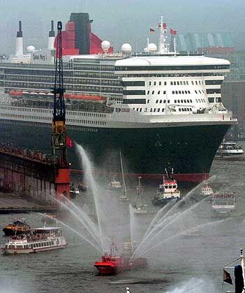 Queen Mary 2: Die Passagiere des Luxusdampfers sollen Hamburg als Weltstadt anerkennen