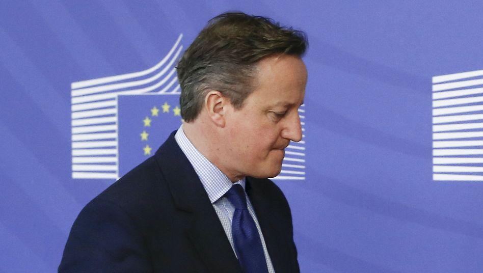 David Cameron: Der britische Premier lässt über einen Austritt der Briten aus der EU abstimmen - die Angst vor einem Brexit belastet den Dax zusätzlich