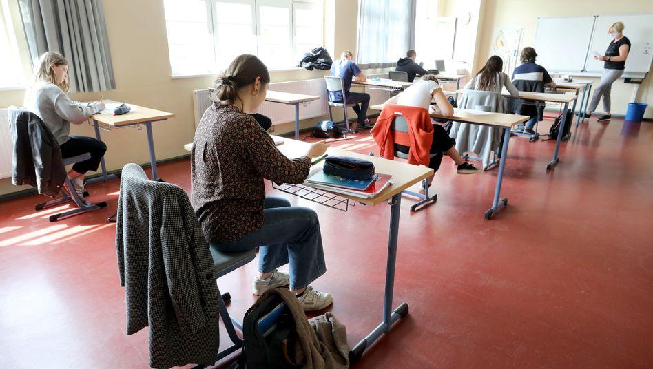 Unterricht mit Abstand (Bild Archiv): Mecklenburg-Vorpommern startet den Schulbetrieb nach den Sommerferien