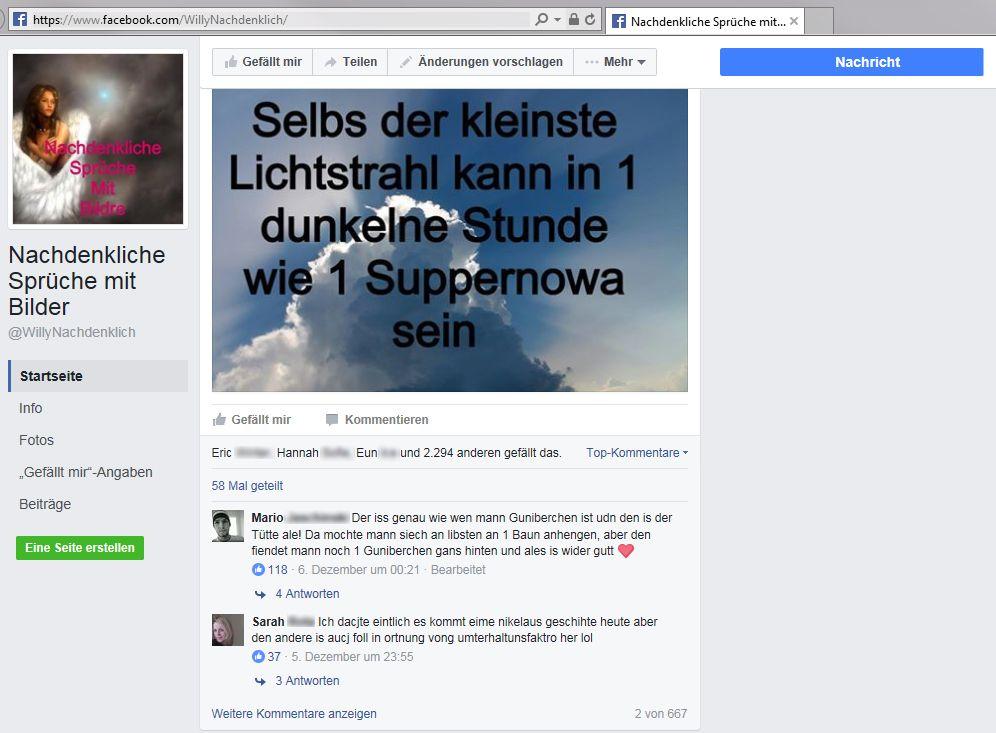 SCREENSHOT Facebook / @WillyNachdenklich
