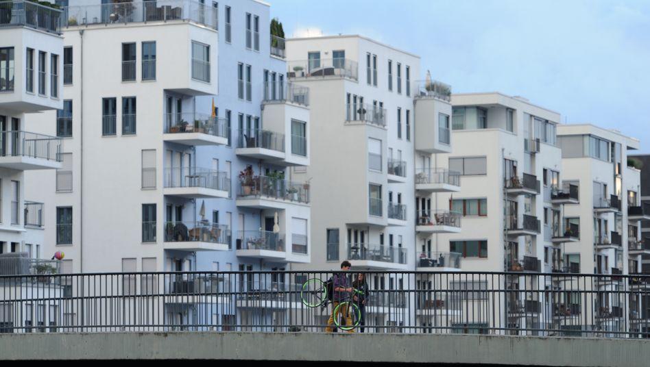 Wohnviertel am Westhafen in Frankfurt: Nicht nur im Luxussegment steigen die Preise