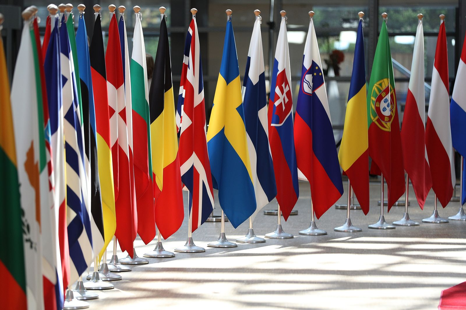 Europäische Union / Mitgliedsstaaten / Brüssel / Flaggen