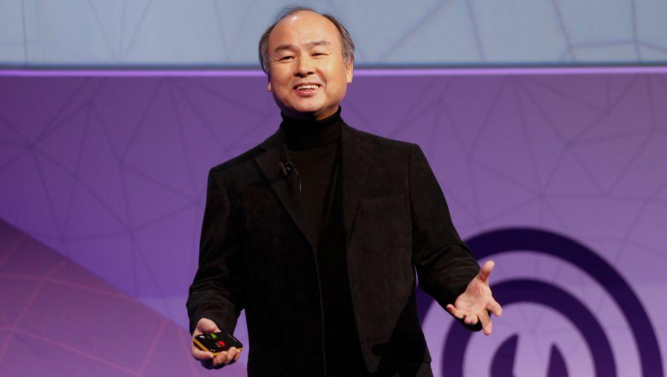 Hat 100 Milliarden Dollar investiert - und will frisches Geld: Softbank-Chef Masayoshi Son