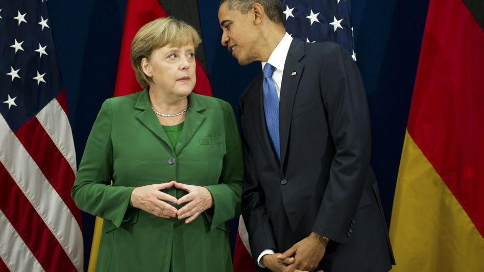 Obama, Merkel: Als US-Präsident war Obama noch nie in Berlin