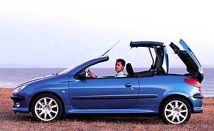 Brachte den Blechmechanismus in die kleine Klasse: Peugeot 206 CC