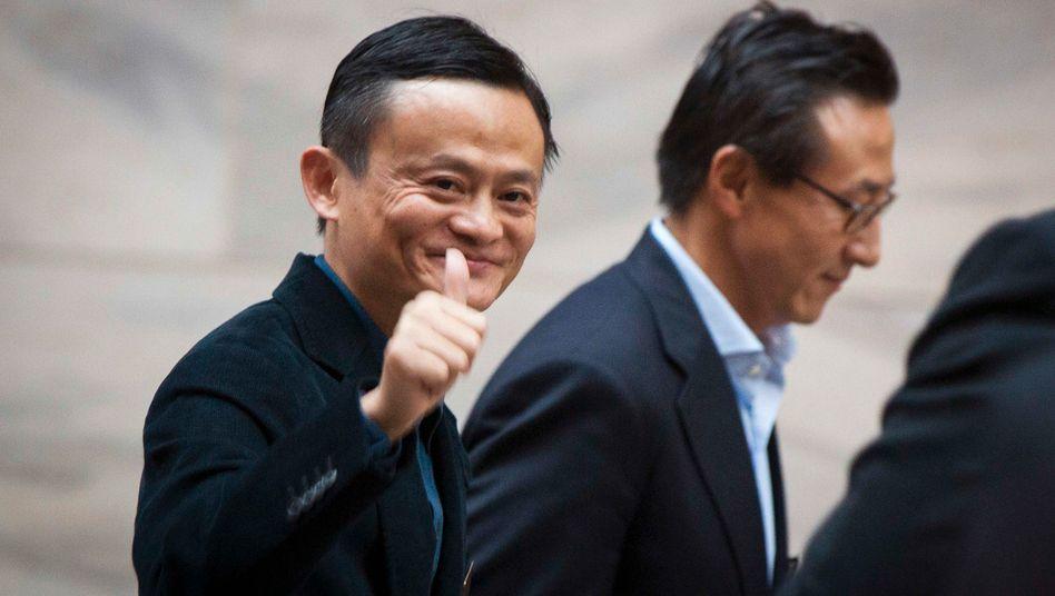 Alibaba-Grüner Jack Ma vor einigen Jahren in New York: Vermögen um mehr als ein Fünftel vermehrt, aber dennoch nicht mehr der reichste Mensch Chinas