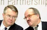 Angriffslustig: Allianz-Chef Henning Schulte-Noelle und Dresdner Bank-Primus Bernd Fahrholz