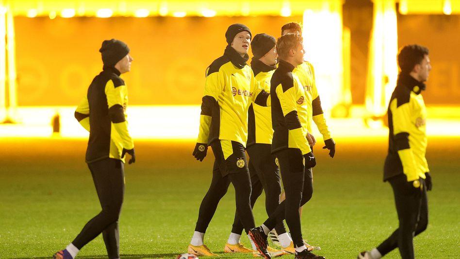 Begehrt bei Fans und Investoren: Profis von Borussia Dortmund beim Training