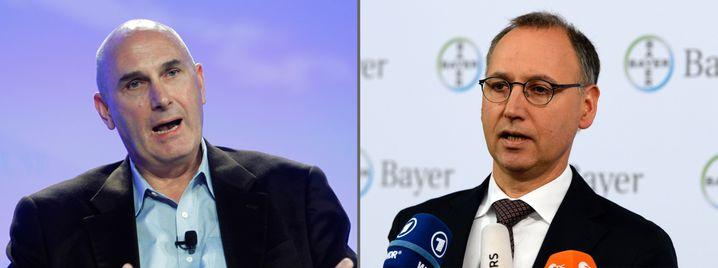 Monatelanges Kräftemessen: Monsanto-Chef Hugh Grant und Bayer-Chef Werner Baumann