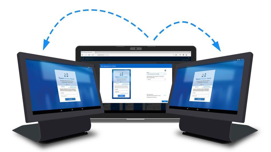 Mit TeamViewer-Software lassen sich unter anderem Computer verbinden