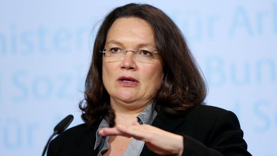 Bundessozialministerin Andrea Nahles