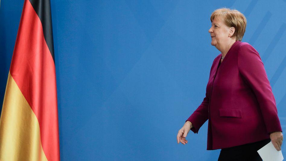 """Bundeskanzlerin Angela Merkel sah zuletzt """"Anlass zu vorsichtiger Hoffnung"""" (Archivaufnahme, 09.04.)"""