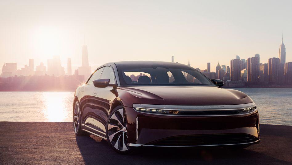 """""""Air"""" macht was her: Das erste Modell """"Air"""" des Elektroauto-Herstellers Lucid Air, an dem der saudische Staatsfonds PIF beteiligt ist, könnte durchaus als Grundlage für eine eigene saudische E-Auto-Marke dienen"""