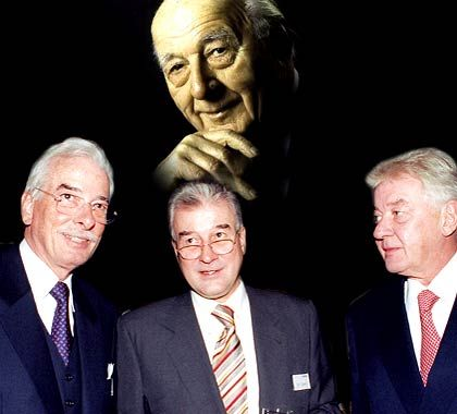 Keiner kann ohne die anderen: Patriarch Karl Diehl und seine Söhne Werner, Peter und Thomas (v.l.)