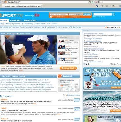 Sportcommunities wie Sportme (im Bild): Spielersuche und Trainingstipps