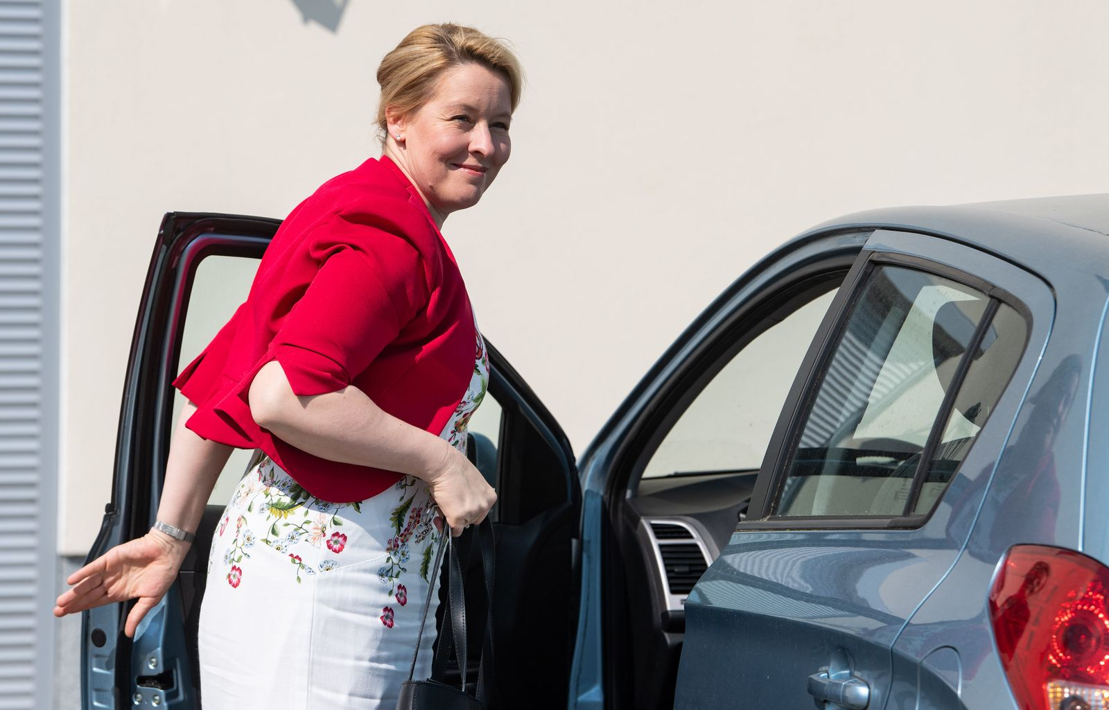 Franziska Giffey im Wahlkampf - Taxi Zentrum Berlin