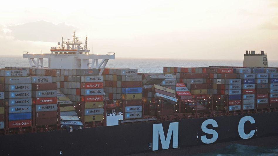 MSC Zoe: Der Mega-Frachter hat im Sturm in der Nordsee rund 270 Container verloren