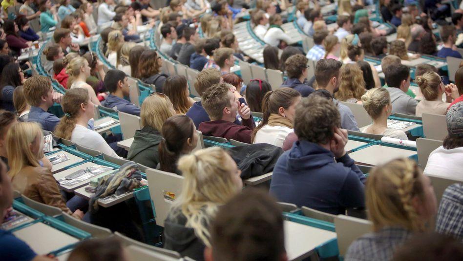 Studenten in der Universität Mainz: Boom bei Studentenzahlen