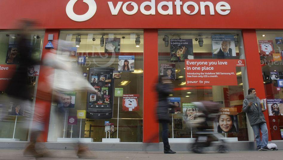 Vodafone-Laden in London: Schwieriges Marktumfeld in Europa