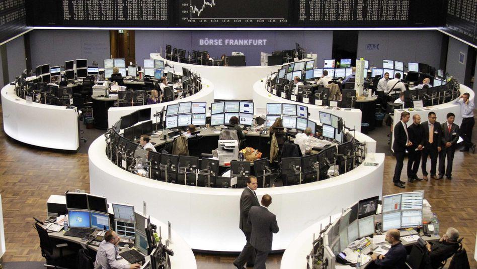 Frankfurter Börsenparkett: Der Dax hat nach einem Tag mit Verlusten am Mittwoch wieder zugelegt