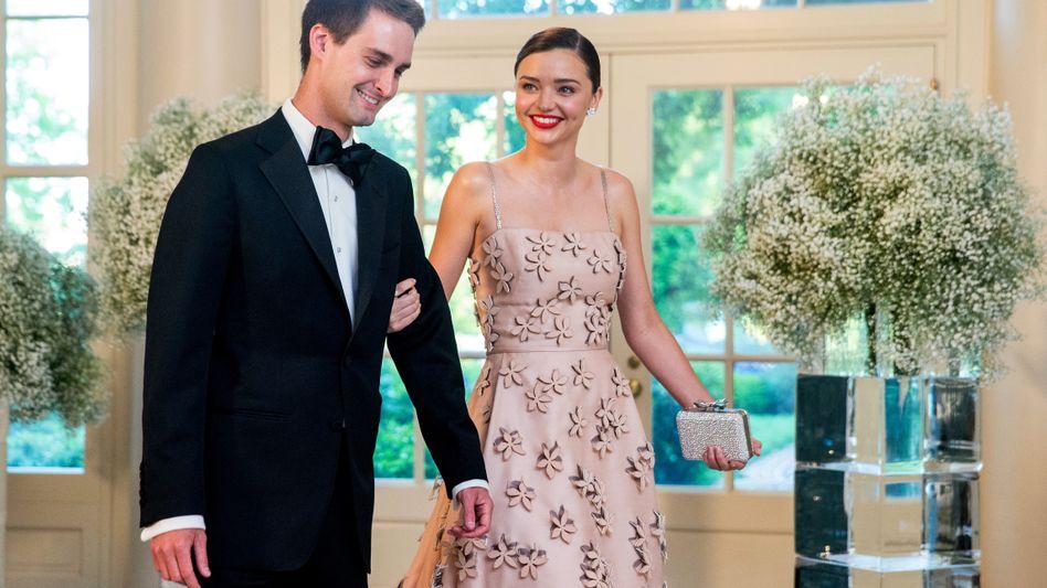 Evan Spiegel, Freundin Miranda Kerr: Den richtigen Augenblick nutzen