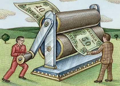 Steigender Liquiditätsbedarf: Das zusätzliche Geld kommt nur zu geringen Teilen bei Unternehmen und privaten Haushalten an