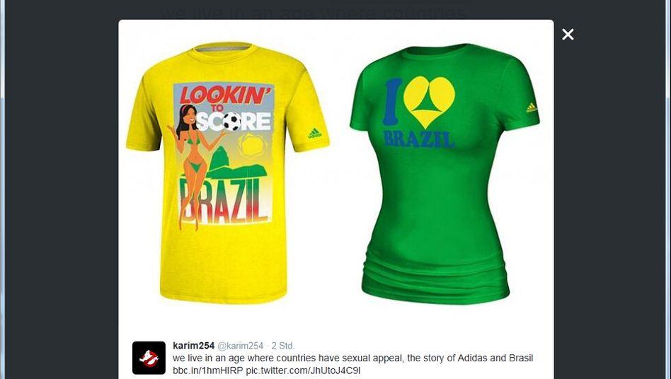 """""""Looking to score"""": Brasilianische Behörden sehen im Slogan der Adidas-Shirts eine Aufforderung zum Sex-Tourismus"""