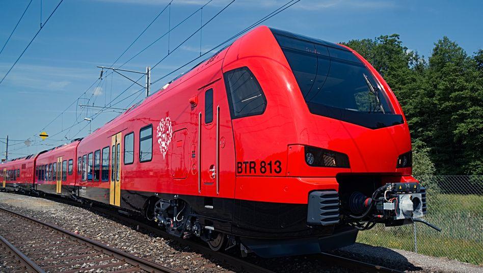 """Der """"FLIRT"""" vom Bahntechnikkonzern Stadler: Hinter der Abkürzung verbirgt sich """"Flinker Leichter Intercity und Regional-Triebzug"""""""