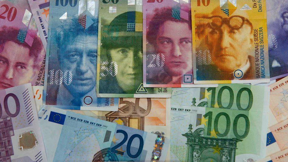 1 franken in euro