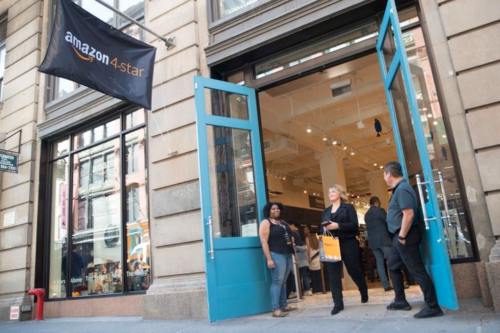 Stationäre Amazon-Filiale in New York