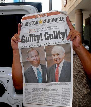 Schuldspruch: Lay und Jeffrey Skilling werden schuldig gesprochen
