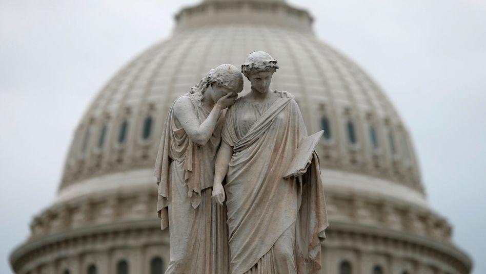 Kapitol in Washington: Der Kompromiss im Haushaltsstreit führt zu weiter steigenden Schulden der USA