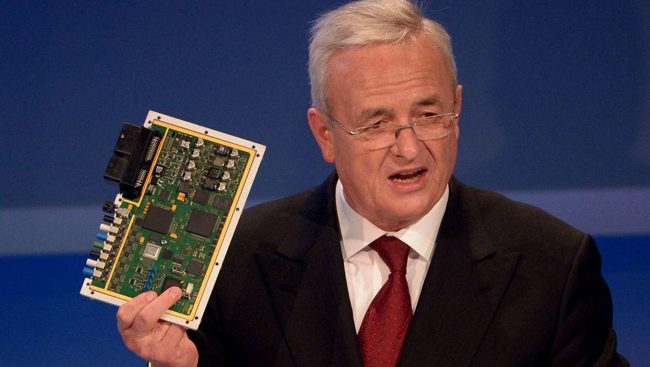 Steuereinheit zum automatischen Fahren: VW-Chef Martin Winterkorn