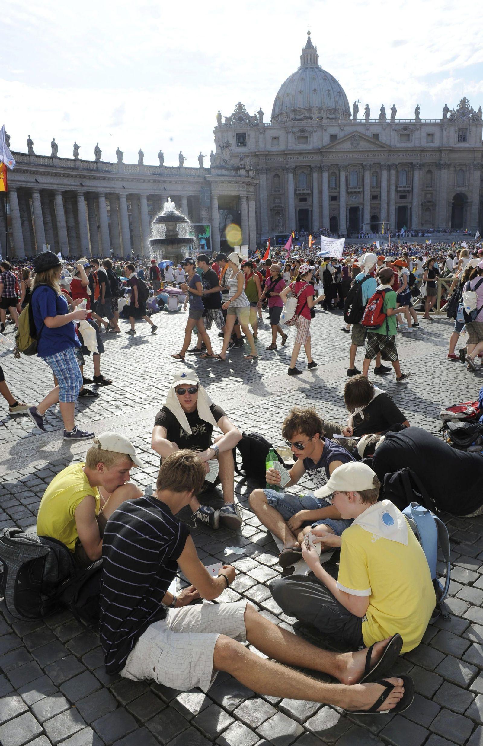 Rom Vatikanstadt - Touristen