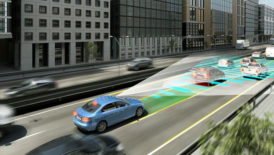 Bosch-Simulation: Wie Sensoren andere Fahrzeuge erkennen sollen