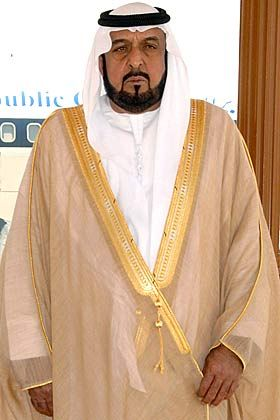 Cash für die Sorgenkinder: Scheich Scheich Khalifa bin Zayed al-Nahayan ist Präsident der Vereinigten Arabischen Emirate. Das größte der sieben Emirate, Abu Dhabi, hat 7,5 Milliarden Dollar in die gebeutelte US-Bank Citigroup investiert.
