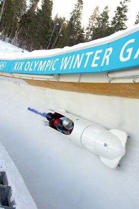 Rasant: In Salt Lake City kann man als Mitfahrer die Olympia-Bobbahn testen