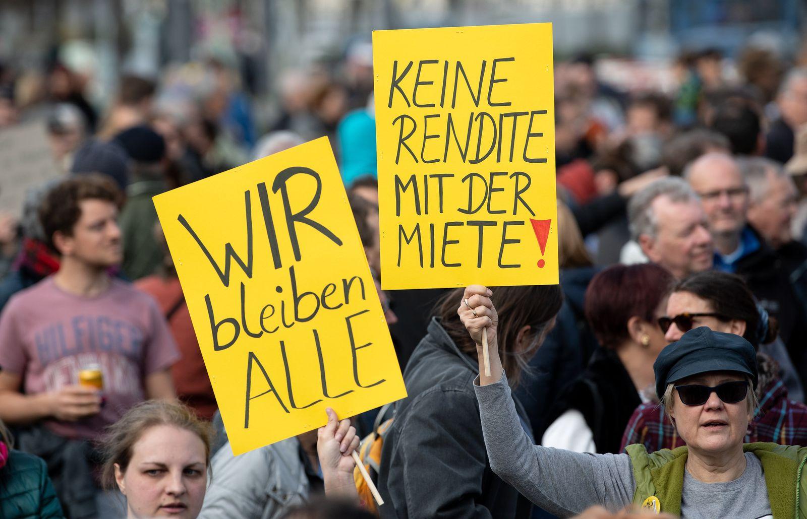 Demonstration gegen steigende Mieten - München