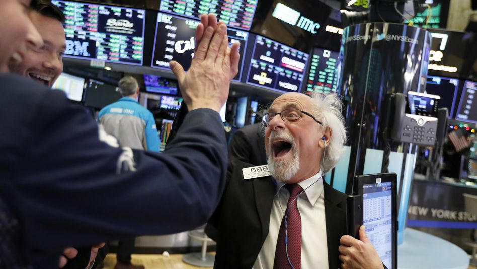 Feierstimmung an der Börse (Archivaufnahme)