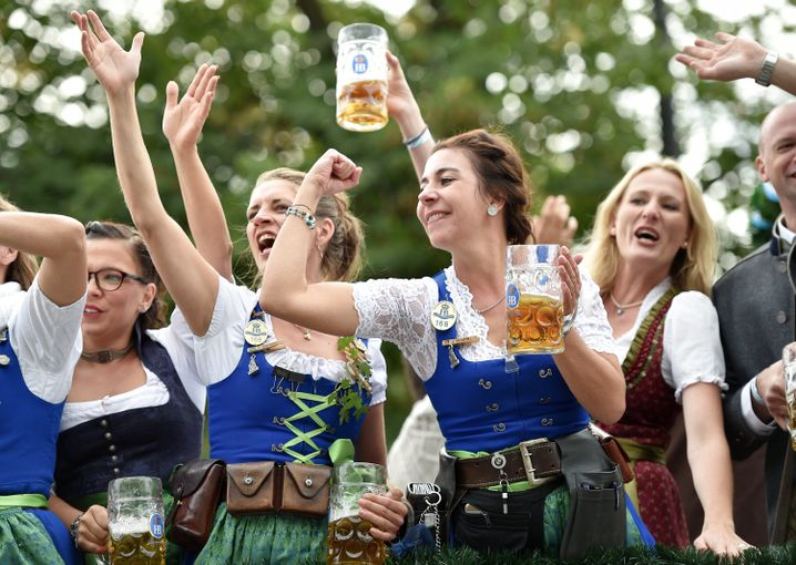 Szene vom Münchener Oktoberfest