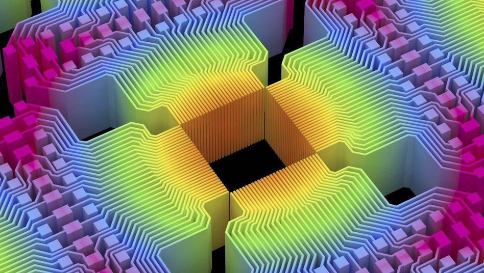 Stoff für Fantasien: Quantencomputer-Kunstwerk