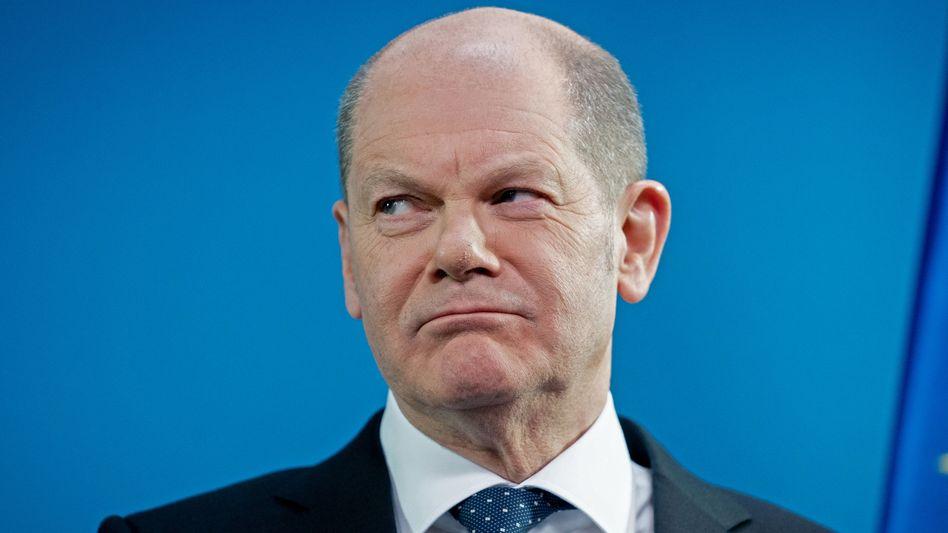 Mann mit Erinnerungslücken: SPD-Kanzlerkandidat Olaf Scholz
