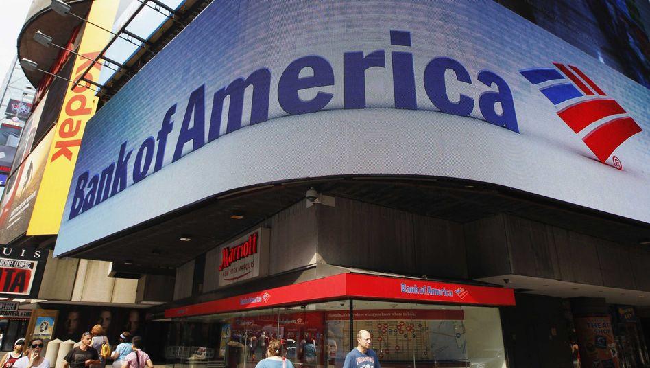 Abnk of America in New York: Die Bank wird zur Kasse gebeten