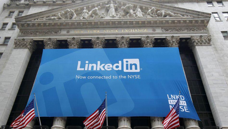 NYSE in New York: Das Onlinenetzwerk LinkedIn wagte im Mai noch den Gang an die Börse