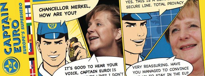 """Good to hear your voice"": Kanzlerin Merkel im Telefonat mit Captain Euro"
