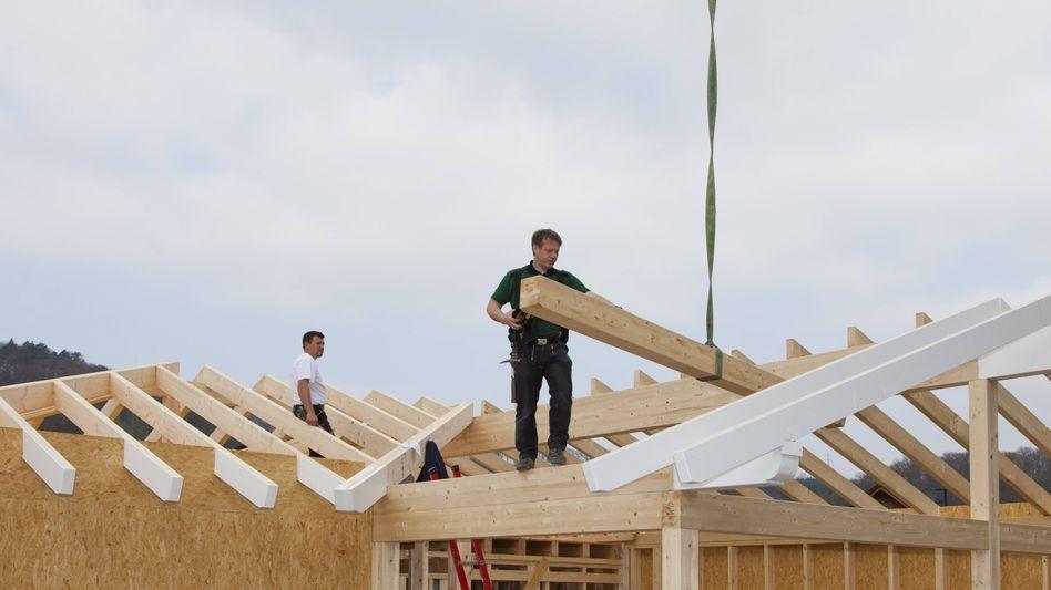Baustelle: Nicht nur Holz ist derzeit Mangelware in der Bauindustrie