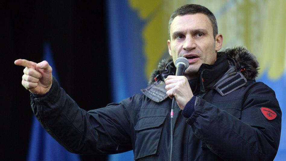 Sportler mit politischen Ambitionen: Vitali Klitschko will ukrainischer Präsident werden